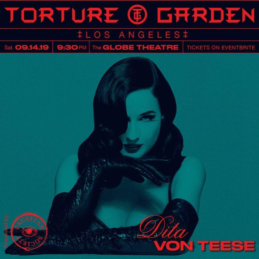 Dita Von Teese to Host Torture Garden LA